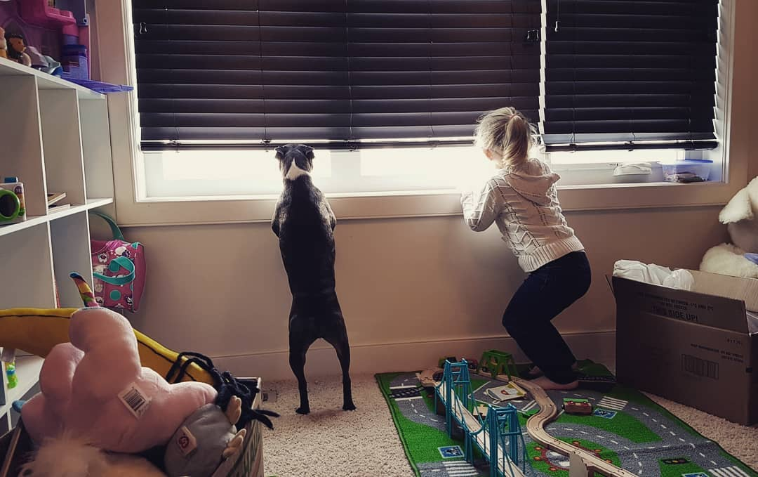 My Boston and Me - Anya & Jemma looking out window